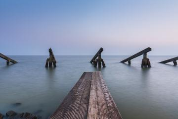icebreakers with pier at the ocean  : Stock Photo or Stock Video Download rcfotostock photos, images and assets rcfotostock | RC-Photo-Stock.: