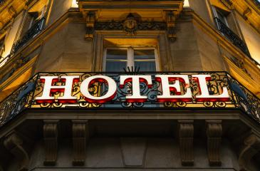 Illuminated hotel sign taken at night : Stock Photo or Stock Video Download rcfotostock photos, images and assets rcfotostock | RC-Photo-Stock.:
