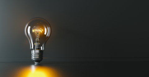 Illuminated light bulb leaning against a wall, concept for creativity, innovation and solution, copyspace for your individual text.- Stock Photo or Stock Video of rcfotostock | RC-Photo-Stock