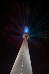 illuminated tv tower in at night in dusseldorf, germany- Stock Photo or Stock Video of rcfotostock | RC-Photo-Stock