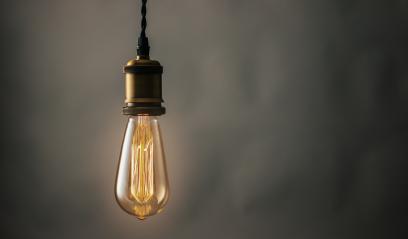 illuminated vintage hanging Edison light bulb - Stock Photo or Stock Video of rcfotostock | RC-Photo-Stock