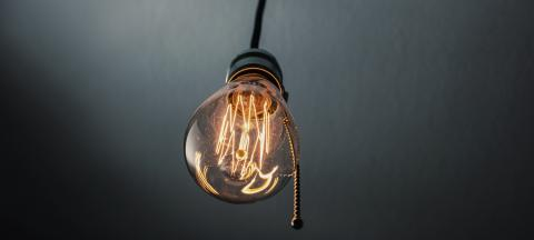 illuminated vintage hanging light bulb with switch- Stock Photo or Stock Video of rcfotostock | RC-Photo-Stock