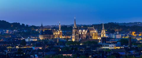 Imperial City of Aachen at night- Stock Photo or Stock Video of rcfotostock | RC-Photo-Stock