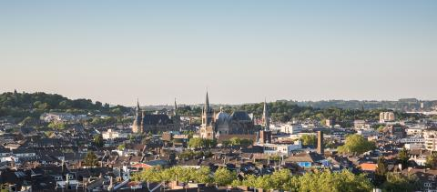 imperial city of aachen at summer- Stock Photo or Stock Video of rcfotostock | RC-Photo-Stock