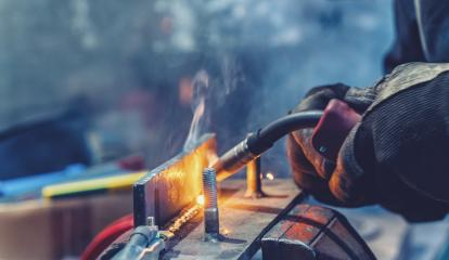 Industrial Worker welding the iron- Stock Photo or Stock Video of rcfotostock | RC-Photo-Stock