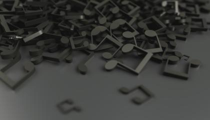 Infinite musical notes, art and music conceptual background image- Stock Photo or Stock Video of rcfotostock | RC-Photo-Stock