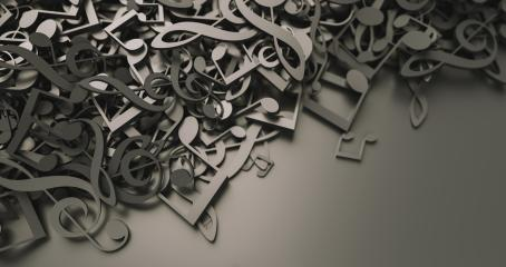 Infinite musical notes, art and music conceptual background image- Stock Photo or Stock Video of rcfotostock   RC-Photo-Stock