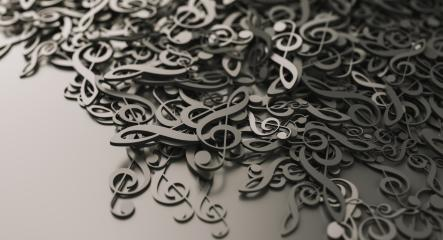 Infinite musical notes, music conceptual background image- Stock Photo or Stock Video of rcfotostock   RC-Photo-Stock