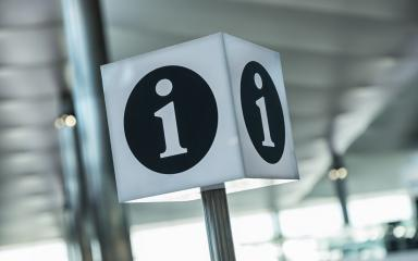 info point symbol on a airport- Stock Photo or Stock Video of rcfotostock | RC-Photo-Stock