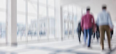 Intentionally blurred commuters in a modern environment background- Stock Photo or Stock Video of rcfotostock | RC-Photo-Stock