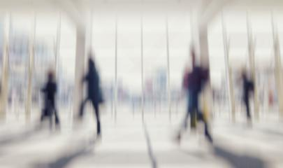 Intentionally blurred commuters walking in a floor background- Stock Photo or Stock Video of rcfotostock | RC-Photo-Stock