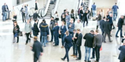 Intentionally blurred crowd of business people - Stock Photo or Stock Video of rcfotostock | RC-Photo-Stock