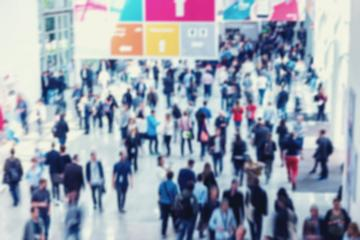 Intentionally Blurred crowd of people at a trade show- Stock Photo or Stock Video of rcfotostock | RC-Photo-Stock