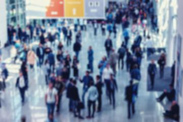 Intentionally Blurred people at a trade fair- Stock Photo or Stock Video of rcfotostock | RC-Photo-Stock
