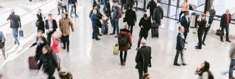 Intentionally blurred people on a trade show background : Stock Photo or Stock Video Download rcfotostock photos, images and assets rcfotostock | RC-Photo-Stock.: