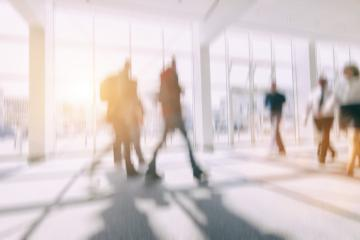 Intentionally blurred people walking in a floor background- Stock Photo or Stock Video of rcfotostock | RC-Photo-Stock