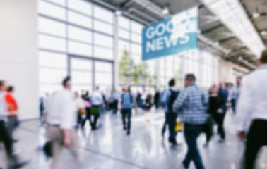 Intentionally blurred people walking trade show hall : Stock Photo or Stock Video Download rcfotostock photos, images and assets rcfotostock | RC-Photo-Stock.:
