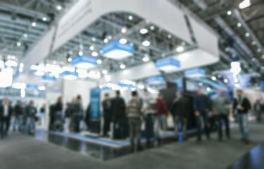 Intentionally blurred trade fair background- Stock Photo or Stock Video of rcfotostock | RC-Photo-Stock