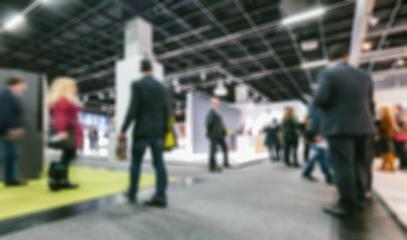 Intentionally blurred trade fair background- Stock Photo or Stock Video of rcfotostock   RC-Photo-Stock