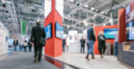 Intentionally blurred Trade fair Visitors background- Stock Photo or Stock Video of rcfotostock | RC-Photo-Stock