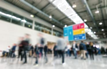 Intentionally blurred trade show background- Stock Photo or Stock Video of rcfotostock | RC-Photo-Stock