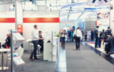 Intentionally blurred trade show booth background- Stock Photo or Stock Video of rcfotostock | RC-Photo-Stock
