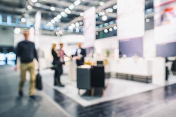 Intentionally blurred trade show booths background- Stock Photo or Stock Video of rcfotostock | RC-Photo-Stock
