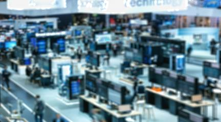 Intentionally blurred trade show view background- Stock Photo or Stock Video of rcfotostock | RC-Photo-Stock