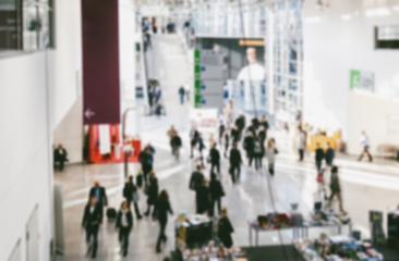 Intentionally blurred trade show visitors- Stock Photo or Stock Video of rcfotostock | RC-Photo-Stock