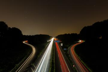 interchange at night with lighttrails : Stock Photo or Stock Video Download rcfotostock photos, images and assets rcfotostock | RC-Photo-Stock.:
