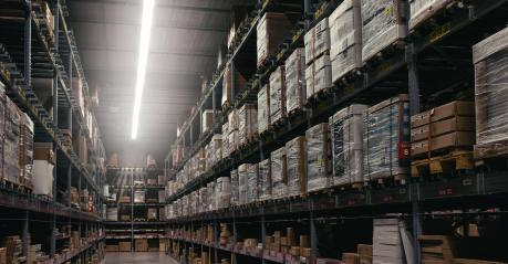 interior of warehouse. Rows of shelves with boxes- Stock Photo or Stock Video of rcfotostock | RC-Photo-Stock