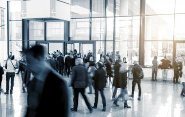 International Trade Show business people in a modern hall- Stock Photo or Stock Video of rcfotostock | RC-Photo-Stock