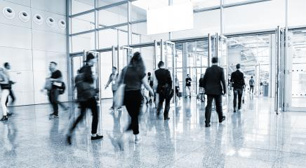 International Trade Show entrance with people in rush- Stock Photo or Stock Video of rcfotostock   RC-Photo-Stock