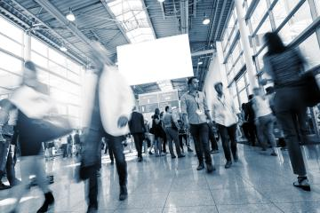 International Tradeshow Visitors- Stock Photo or Stock Video of rcfotostock | RC-Photo-Stock