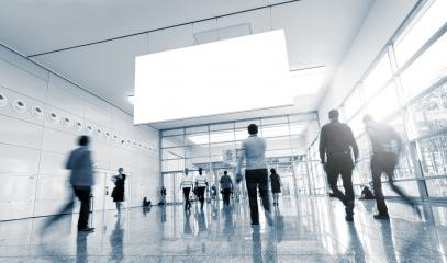 International Tradeshow Visitors in a modern hall- Stock Photo or Stock Video of rcfotostock | RC-Photo-Stock