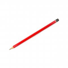 isolated red pencil on pure white background- Stock Photo or Stock Video of rcfotostock | RC-Photo-Stock