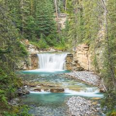 Johnston Canyon Upper Falls in the banff national park canada : Stock Photo or Stock Video Download rcfotostock photos, images and assets rcfotostock | RC-Photo-Stock.: