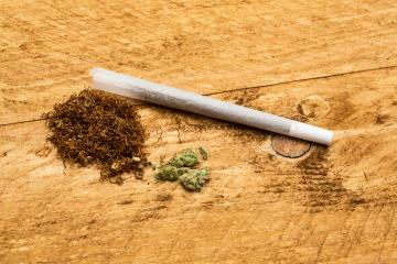 joint with tobacco and pox of marijuana : Stock Photo or Stock Video Download rcfotostock photos, images and assets rcfotostock | RC-Photo-Stock.: