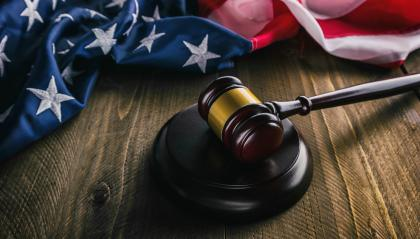 judge gavel and background with usa flag- Stock Photo or Stock Video of rcfotostock | RC-Photo-Stock