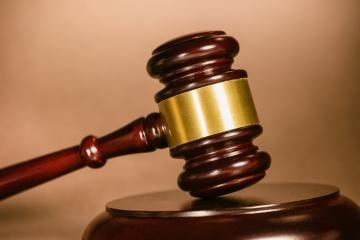 Judge's Gavel on brown background- Stock Photo or Stock Video of rcfotostock | RC-Photo-Stock