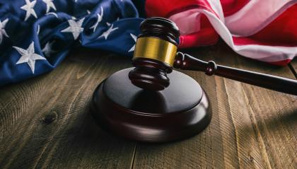 judges wooden gavel with USA flag - law concept image- Stock Photo or Stock Video of rcfotostock | RC-Photo-Stock
