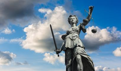 Justitia (Lady Justice) sculpture with cloudy sky in Frankfurt, built 1887 : Stock Photo or Stock Video Download rcfotostock photos, images and assets rcfotostock | RC-Photo-Stock.: