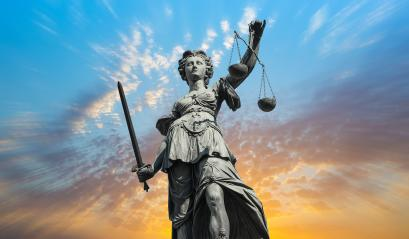 Justitia lady with cloudy sunset sky : Stock Photo or Stock Video Download rcfotostock photos, images and assets rcfotostock | RC-Photo-Stock.: