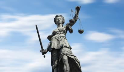 Justitia on blue sky : Stock Photo or Stock Video Download rcfotostock photos, images and assets rcfotostock | RC-Photo-Stock.: