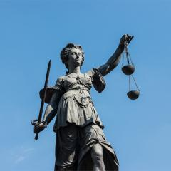 justitia statue at the roemer in frankfurt germany- Stock Photo or Stock Video of rcfotostock | RC-Photo-Stock