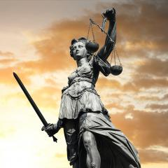 Justitia with sunset sky : Stock Photo or Stock Video Download rcfotostock photos, images and assets rcfotostock | RC-Photo-Stock.: