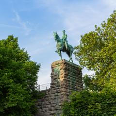 kaiser Wilhelm II equestrian statue at the Hohenzollern bridge- Stock Photo or Stock Video of rcfotostock | RC-Photo-Stock