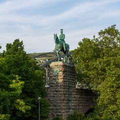 Kaiser Wilhelm II rider statue at the Hohenzollern bridge- Stock Photo or Stock Video of rcfotostock | RC-Photo-Stock