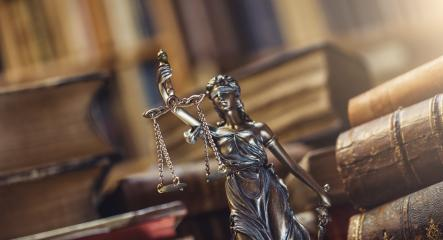 Lady Justice Statue in a courtroom- Stock Photo or Stock Video of rcfotostock | RC-Photo-Stock