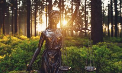 Lady Justice Statue in the woods- Stock Photo or Stock Video of rcfotostock | RC-Photo-Stock